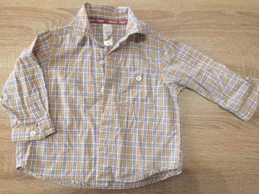 Amisu karirane bermude - Srbija: Karirana košulja za dečake CA (Disney),veličina 86, očuvana.200 dinara