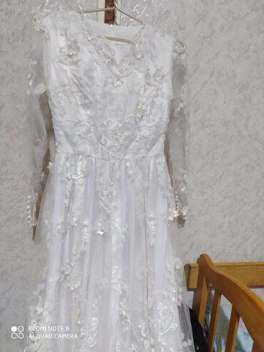 Свадебные платья и аксессуары - Кыргызстан: Продаю платье для никах. Очень красивое платье, могу скинуть видео по
