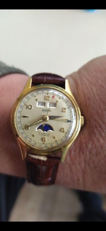 Антикварные часы в Кыргызстан: Часы наручные Enicar Швейцарские, старинные 1950 годов,дата,день