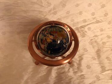 Глобус и компас полированная латунная основа