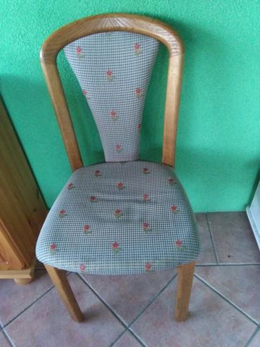 Stolice jako lepe drvene 4 kom I stol na razvlacenje 15000,jako - Sombor