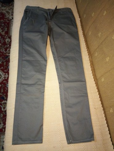 Tanke muske pantalone, potpuno nove, nisu nosene, velicina 32, sive - Belgrade