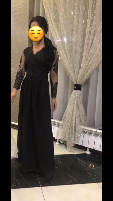 чёрное вечернее платье в пол в Кыргызстан: Платье Вечернее Vero Moda M