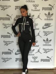 Ženska trenerke - Srbija: Adidas ženska trenerka crna koplet NOVO veličine S M L XL XXL