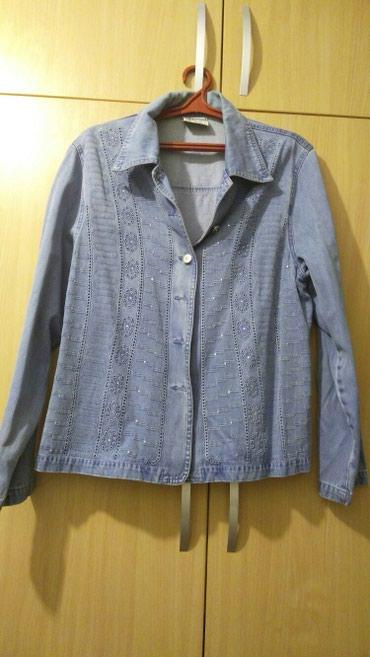 синий пиджак женский в Кыргызстан: Женский джинсовый пиджак,одевала несколько раз,размер ХХХ или 50