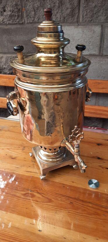 Спорт и хобби - Сокулук: Самовар в хорошем состоянии 1902 год антиквар 8 литровый 25000 сом