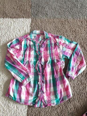 Košulja za devojčice vel 5 god. Pamucna tanja bez ikakvih oštećenja i
