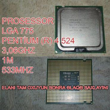 Bakı şəhərində Prosessor (CPU) Pentium (R) 4 524