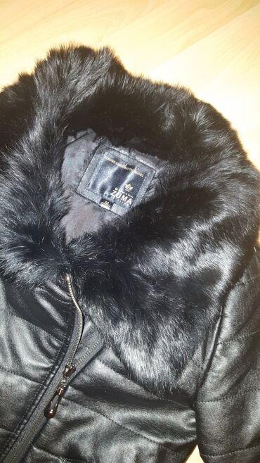 Kozna jakna sa krznom - Srbija: Kozna jakna nova sa prirodnim krznom. postavljena je i topla je za