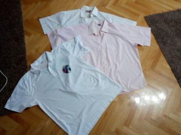 Br.47 ili 18,5 kosulje roze i bela i poklon majica - Nis