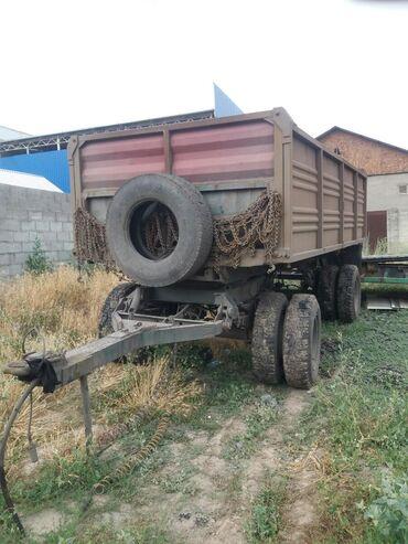 Прицепы - Бишкек: Прицеп камаз селхоз крук.шины.кузов новый обмен дорог