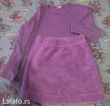 Suknja todor - Srbija: Paketić za devojčice, vel. 6, suknjica todor, bluzica, očuvano