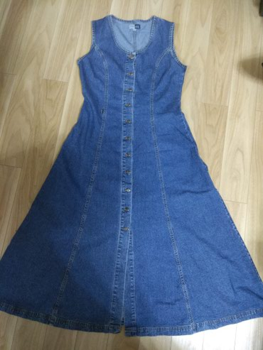 Платье сарафан джинсовый ретро стиль размер 44-48 в Бишкек