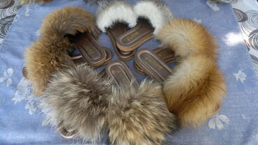 Krzno - Srbija: Nove krznene papuče,rakun,lisica,nerc Papuče sa tabanicom od veštačke