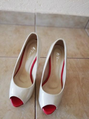 Personalni proizvodi - Jagodina: Cipele, krem boje. Iz Svajcarske. Visina stikle 10 cm, platforme3cmBr