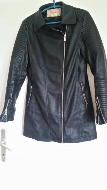 Zenska prelepa jakna eko koža savestackim bogatim  krznom koje se - Belgrade