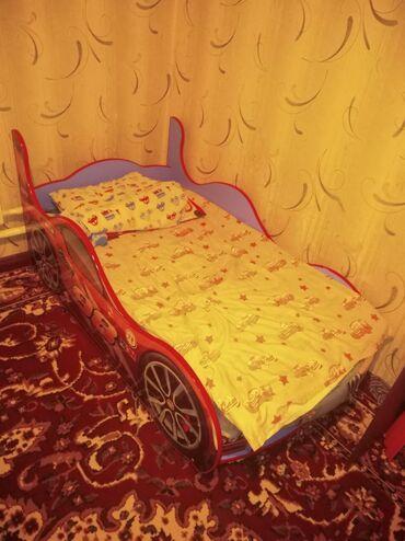 Детская мебель - Цвет: Красный - Бишкек: Машина кровать детский