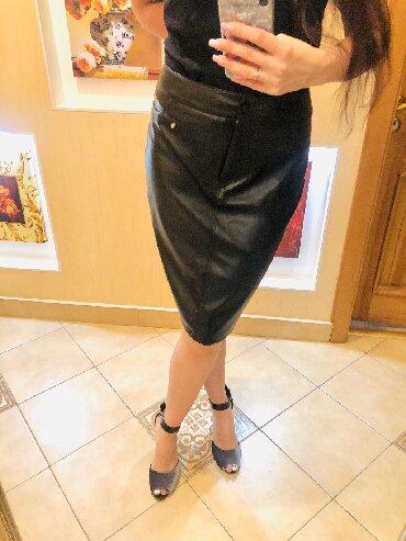 юбка солнце из кожи в Кыргызстан: Новая юбка из эко-кожи 48-50   Стильная юбка-карандаш. Заказывала чере