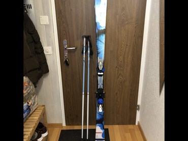 Skije - Srbija: AKCIJA Skije Salomon 159 cm sa stapovima, uvoz Svajcarska