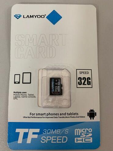 карты памяти sd для телефонов в Кыргызстан: Флешка для телефона Micro SD HC класс 10 LAMYOO, 32 GB.карта памяти