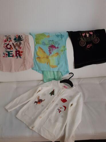 Dzemper - Srbija: 3 majice( 2 su Waikiki) vel 9 i Waikimi novogodisnji dzemper sve za