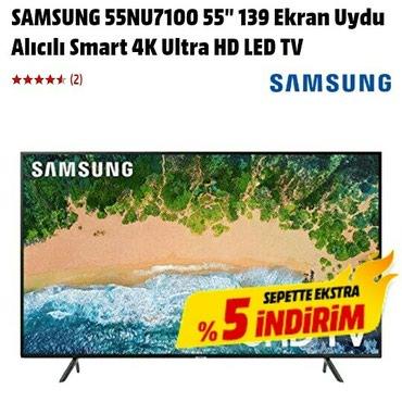 Bakı şəhərində UE 55 NU 7100 SAMSUNG 4K , Diaqonaı 140 sm .seriya 7 , internet wifi