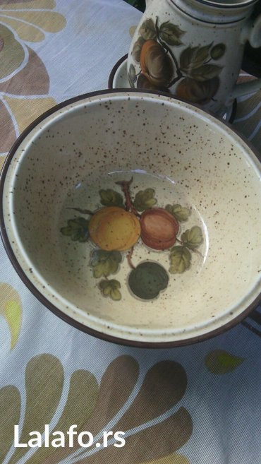 Prelep set šoljice, posuda za mlekooo (može biti i čajnik)  - Cuprija - slika 5