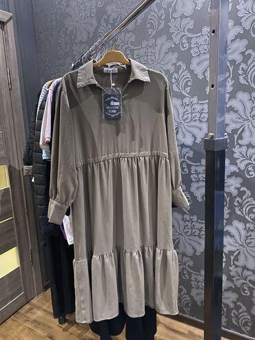 Платье из качественной ткани, размер стандарт. свободного кроя