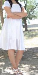 Белое платье, с балерошкой,одевала 1 раз, размер 48 в Сокулук