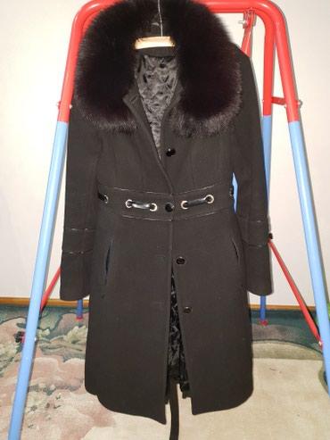 42-44 размер. Состояние хорошее. Кашемир пальто. Уступлю. в Бишкек