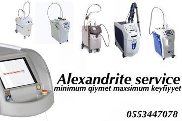 Bakı şəhərində Alexandrit lazer aparati , lazer aparati aleksandrit alexandrite servi