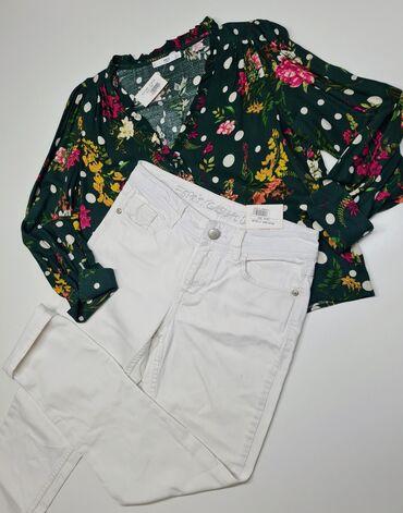 Блуза Мango весна-лето -20%   Размер: L Джинсы  Размер: 28/30
