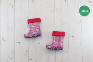 Дитячі резинові чоботи з утеплювачем Demar, з.20-21    Довжина підошви