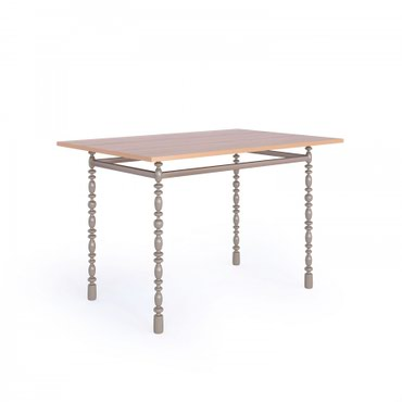 Стол кухонный, модель Султан прямой каркас (1200х800) + вальцованные