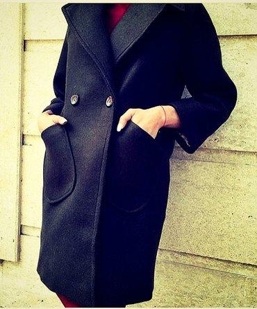 Пальто размер м (44-46) цвет чёрный, бу. на в Кок-Ой