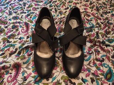 Кожаные женские туфли 33-34 размер чёрного цвета.Были надеты пару раз