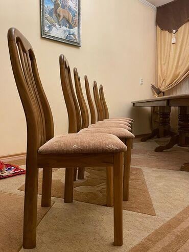 шредеры 12 14 на колесиках в Кыргызстан: Продаю столовый стол 3метра из ореха в комплекте со стульями на 14