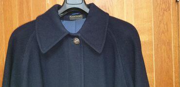 Teget ženski elegantan kaput,vuneni štof,vel.38,ali je veći bar za dva
