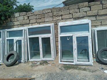 Pəncərələr - Azərbaycan: 120×155=90 manat teze plastik pencere 1 ededin qiyməti 90 azn