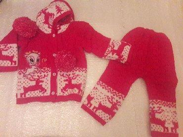 вязаные наволочки на подушки спицами в Кыргызстан: Продаю новую вязаную двойку на девочку от 1 -2 год