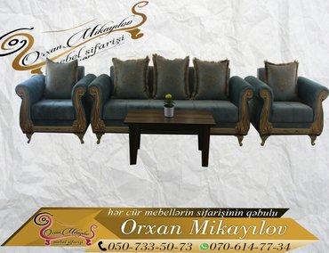 Oğuz şəhərində Sultan madeli divan,kreslo ve masa desti-789 azn. Dest son