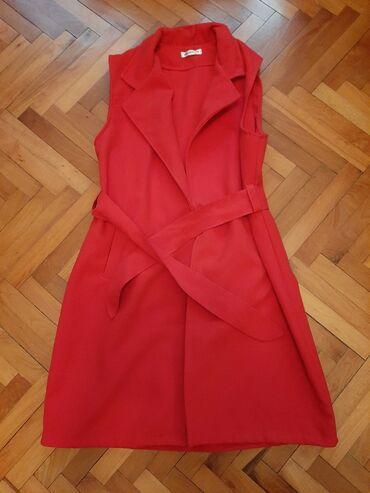 40 oglasa   PERSONALNI PROIZVODI: Nov crveni prsluk univerzalna velicina strukiran