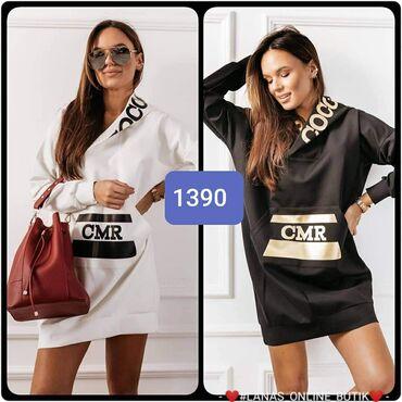 Tunika haljina S m l xl Crna i bela
