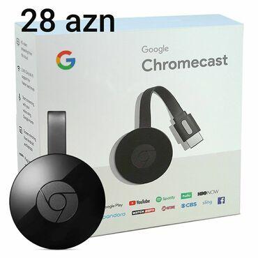 TV/video üçün aksesuarlar - Cəlilabad: Chromecast- Telefon ekranım televizora ötürür.Çeşidli və orginal