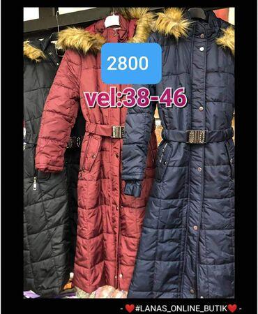 Zimska jakna sa krznom - Srbija: Zimske jakne Kapuljaca sa krznom Velicine 38-46