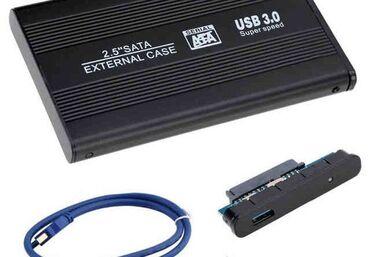 Бокс для жесткого диска алюминиевый USB 3.0✔Алюминий ✔USB 3.0 Gen1