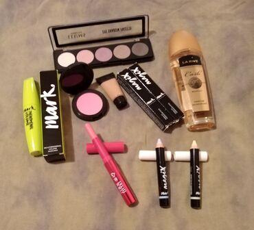 Set šminke i parfem.Sve je novo, senke su samo probane.Cena je za ceo
