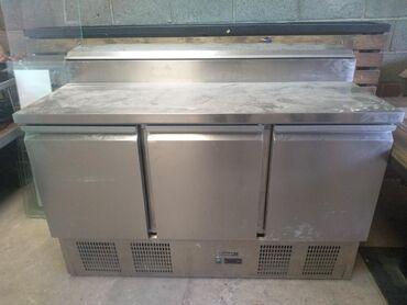 Б/у Серебристый холодильник