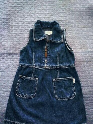 Детские платья в Кыргызстан: Фирменный джинсовый сарафан на рост 92-98 см.Забрать в 4 микрорайоне
