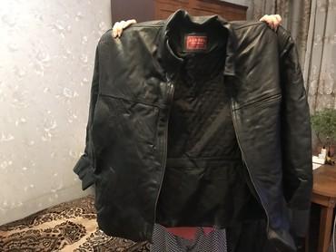 Куртка кожанная мужская, чёрная. Размер: 52-54 «XL».В очень хорошем
